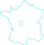carte France / la Roche-Posay