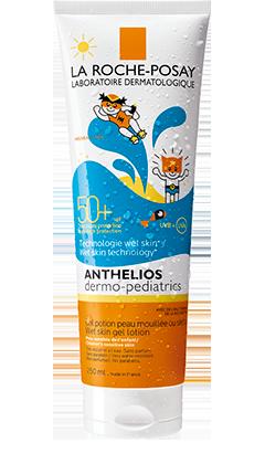 La Roche-Posay ANTHELIOS XL  全效廣譜防曬系列系列的ANTHELIOS Dermo-Pediatrics Wet skin gel Lotion SPF50+ 全效兒童防曬乳(防水配方)  產品圖片